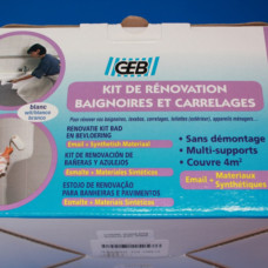 Kit de rénovation émail blanc